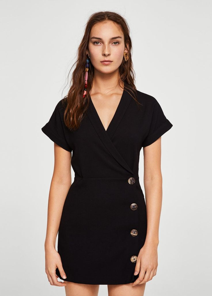 Short buttoned dress -  Women | MANGO USA