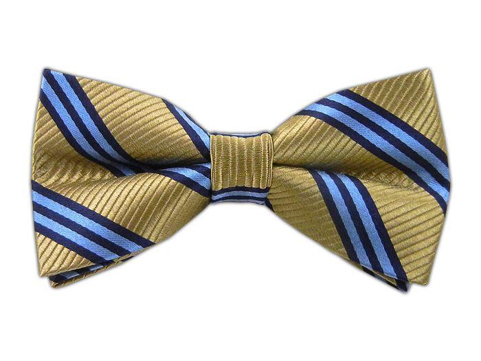 Bar Stripes - Light Champagne (Bow Ties) - Bar Stripes - Light Champagne (Bow Ties)