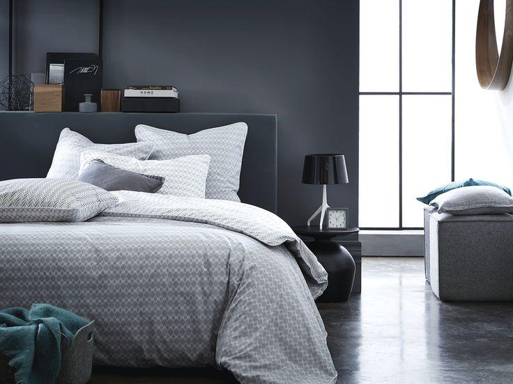 Nouvelle parure imprimée Vice Versa Gris et Blanc pour une chambre cosy et chic