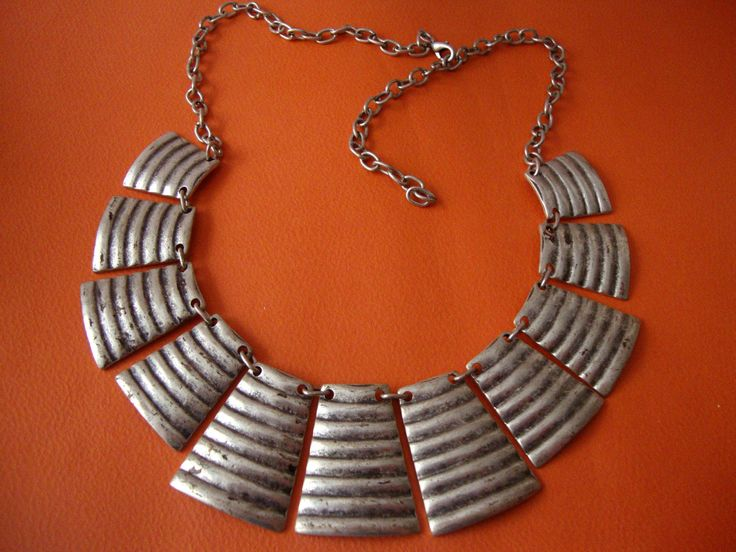 Modern Gradual Oxidized Custom Jewelry Pewter Necklace Adjustable Length 40 - 50 cm by SilveradoJewellery on Etsy