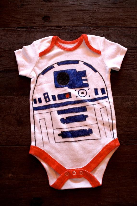 Handmade Star Wars R2D2 Onesie Infant BodySuit by LaurensToms, $10.00