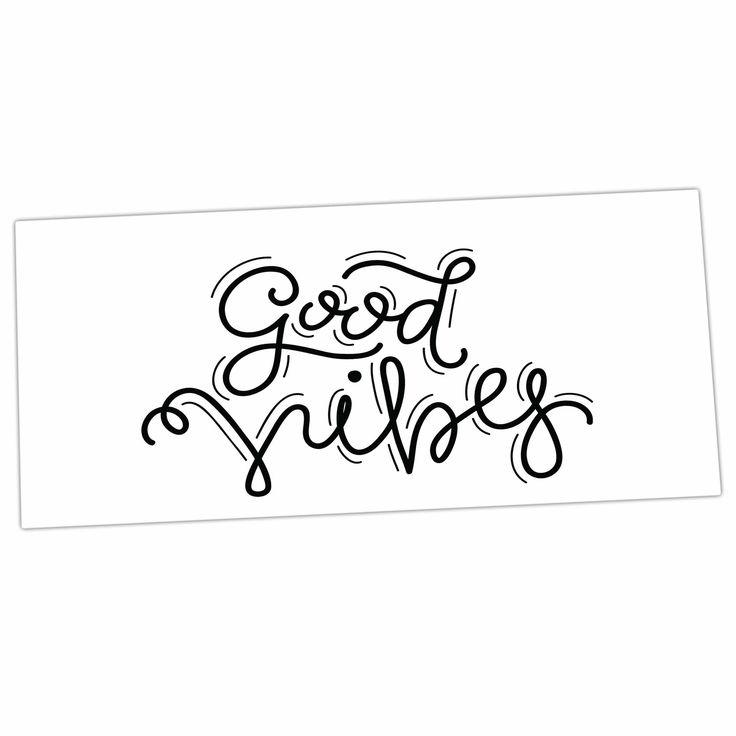 "Busy Bree ""Good Vibes"" Black White Desk Mat"