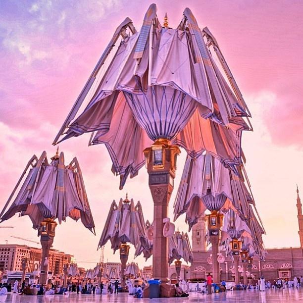 المسجد النبوي الشريف، المدينة المنورة، السعودية Prophet's Mosque, Medina, Saudi Arabia By @han_duro