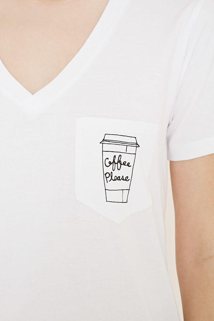 Shirt design envelope - Coffee Graphic Pocket Tee Forever 21 2000169869