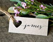 Mini Wedding place cards/name tags / Bonbonniere Tags