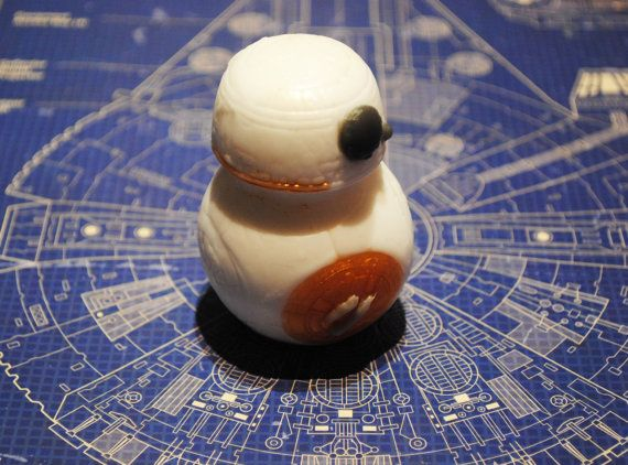 Handmade BB8 Parody Soap  Star Wars droid robot by NerdySoap