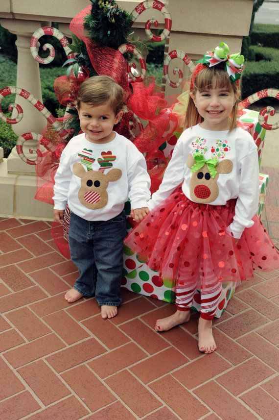Brother Sister Sibling Set Christmas by hotsietotsiebaby on Etsy