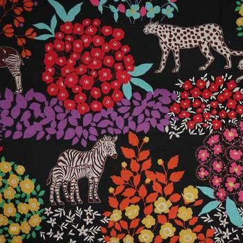 Latest Designer Fabric 'Zebra on Black' by Echino (JPN). Designer Fabrics, curtains, blinds, cushions online