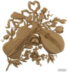 Musical Instrument -Louis XVI 11H X 11W - 3/8Relief