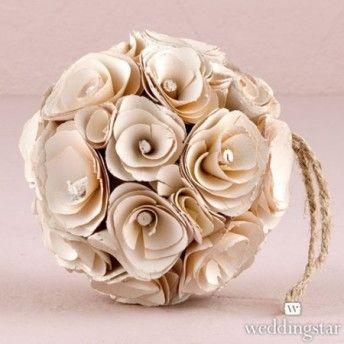 Sfera in legno a tema floreale