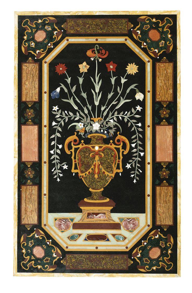 An Italian Renaissance Style Pietra Dura Panel Pietra
