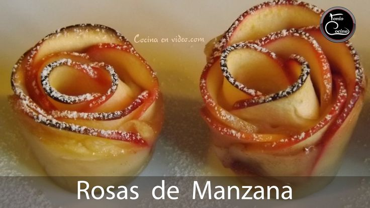 ROSAS DE HOJALDRE Y MANZANA, fáciles y muy sabrosas  | Recetas Navidad -...