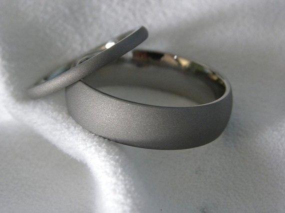 Matching Rings Titanium Rings Wedding Bands Sandblasted Finish