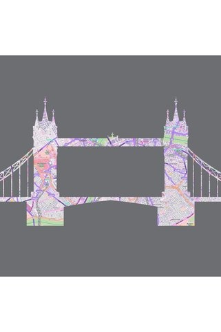 Wrenmade London Bridge Landmark Map Print....might be cool on an invitation of the place where the event is.