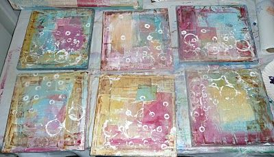 Mixed Media Tutorials - Background collage - Great tip:  Tear up pieces of patterned paper & glue them randomly. Start big and then move into smaller pieces. Go fast. Don't over think this. Don't judge your work, just keep moving.