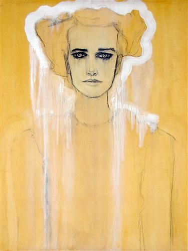 Original art for sale at UGallery.com | Girl by Ryan Pickart | $675 | mixed media artwork | 23' h x 17.5' w | http://www.ugallery.com/mixed-...