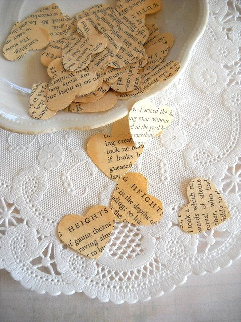 Vintage Wuthering Heights Heart Confetti