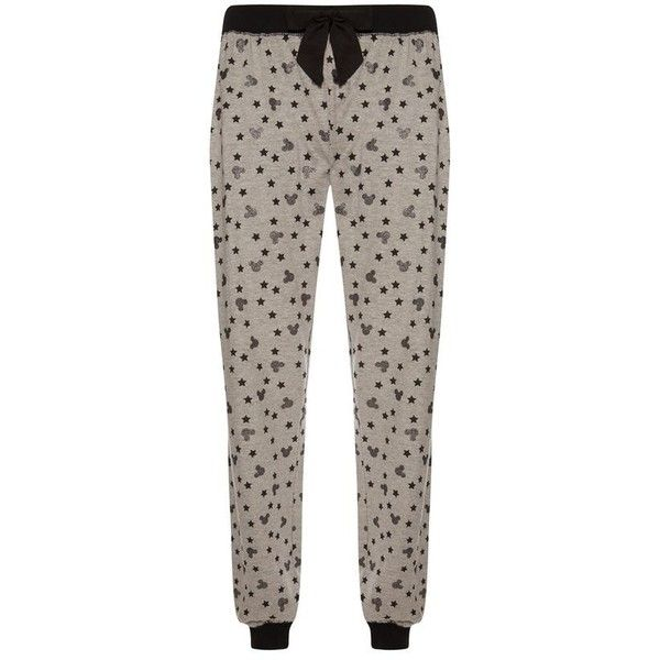 Grijze Mickey Mouse-legging ❤ liked on Polyvore featuring pants, leggings, mickey mouse pants, mickey mouse leggings, brown pants, brown trousers and brown leggings