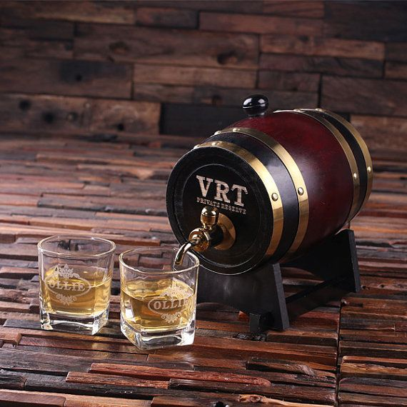 Raise a toast and roll out the good times at your next big event with a professionally crafted whiskey barrel that makes aging alcohol an art form. Fashioned from varying woods in a traditional way, this piece of rustic Americana makes an ideal gift for the groomsman, whiskey connoisseur