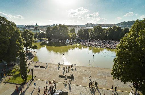 Typisch Stuttgart: Freiluft-Veranstaltungen  in der City; hier Ballett im Park Foto: Lichtgut/Leif Piechowski