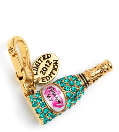 JUICY COUTURE  Gold Champagne Charm