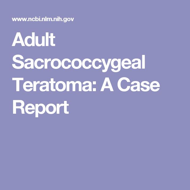 Adult Sacrococcygeal Teratoma: A Case Report