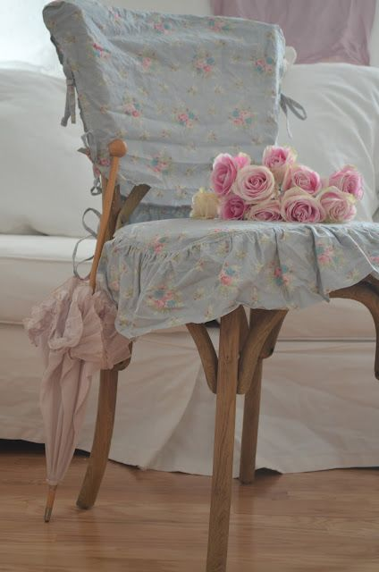 Pin by mary robertson on upholstery and slipcovers pinterest shabby chairs and chair covers - Shabby chic dining room chair covers ...