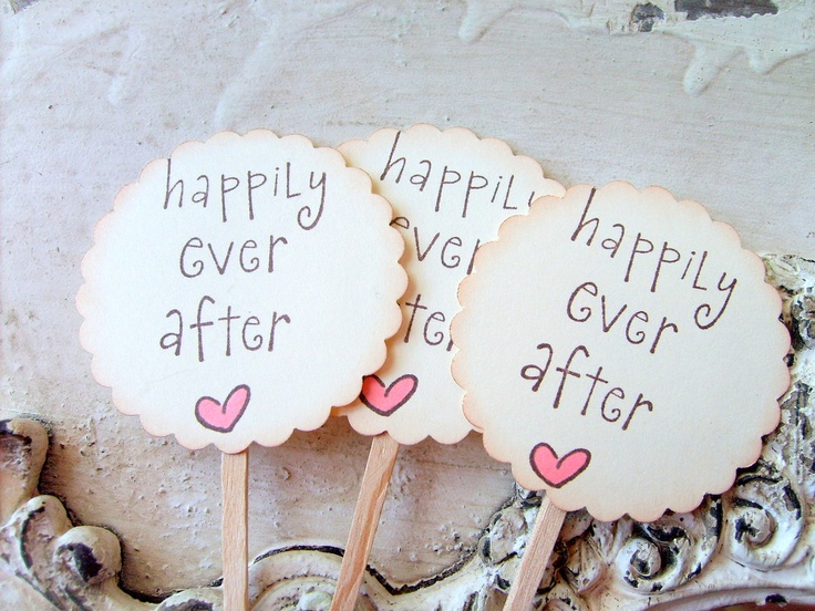 Wedding Cupcake Toppers,