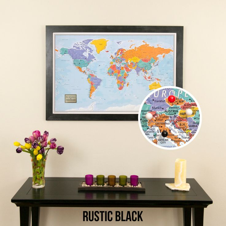 The 25 best world map travel pins ideas on pinterest map pins blue oceans world push pin travel map with frame push pin travel map use as a wedding guest book track client locations pin map gumiabroncs Images