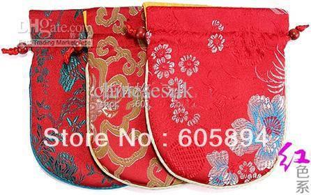 Печатных китайский шелк шнурок сумки для ювелирной мешок подарка малый хлопок заполненные ремесло многоразовые сумка для хранения ткани