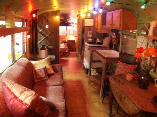 Hippie School Bus Inside | Go Back > Gallery For > Hippie School Bus Interior