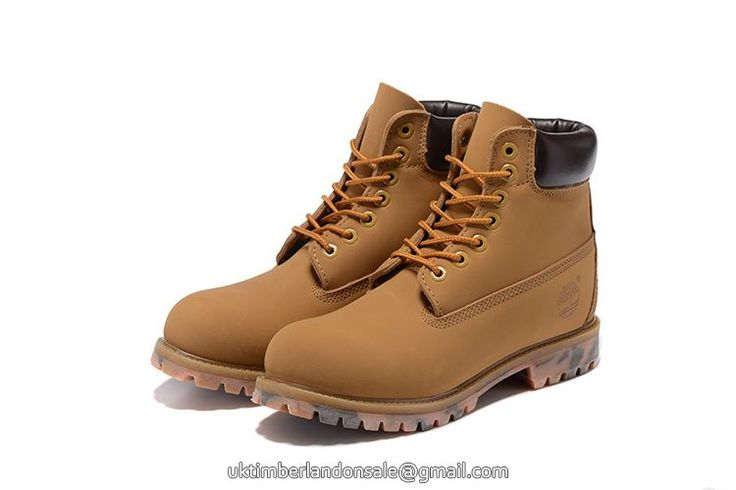 Latest Wheat-Black Camo 6 Inch Timberland Discount Men Boots $95.99