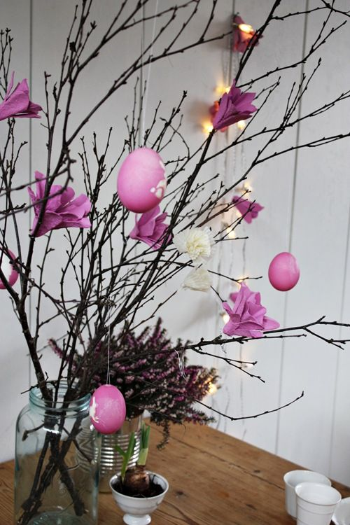 Egg Carton Fairy Light Tree