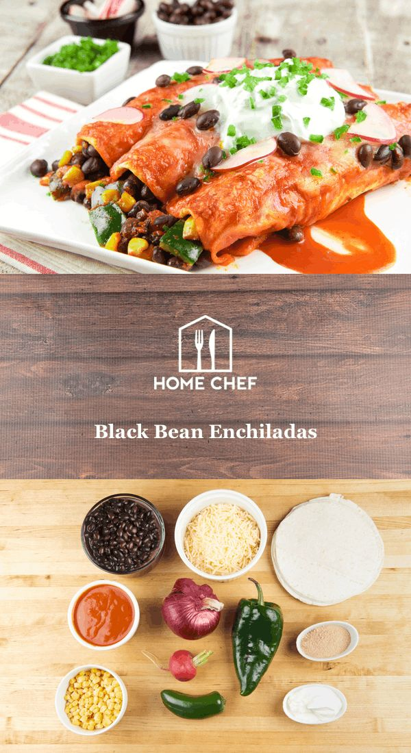 "An enchilada is a tortilla rolled around a filling, covered with sauce, and baked. It sounds simple, but when the flavors of black beans, poblano pepper, and piquant seasoning blend come together, ""simple"" is hardly the word to describe it. Poblano peppers carry a mild, smoky flavor, but different peppers from the same plant have been known to vary in spiciness. Don't sweat it if you prefer it a little less _caliente_: since you're the chef, you can add as much or as little of the peppers…"