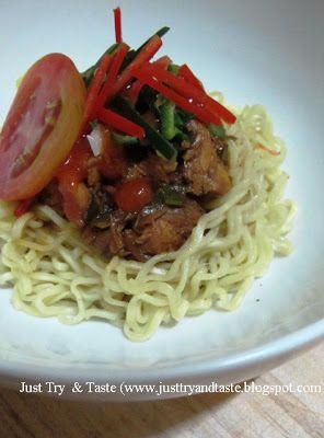 Just Try & Taste: Mie Ayam Instan ala Just Try & Taste