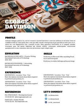desygner resume template cv template modern cv design dont underestimate the - Professional Resume Design Templates
