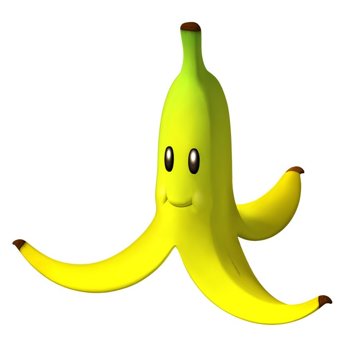 so, what if I made a halter dress that was yellow and looked like a Mario Kart banana?