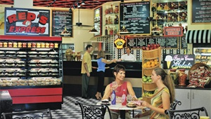 Reds Deli serves up a real New York nosh of stacked sandwiches, soups, salads and pizzas, along with snacks, fresh baked goods and convenience items. Made-to-Order Sandwiches and Pizzas available 6am - Midnight. Open 24 hours | Rosen Centre Hotel | #orlando #rosen #restaurants #idrive #deli