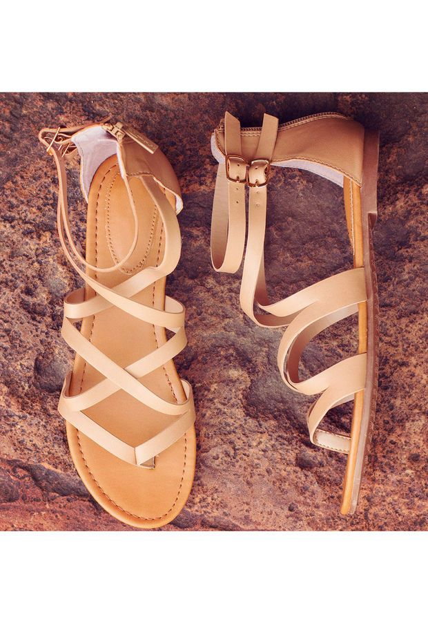 Jeta Gladiator Sandals - Taupe