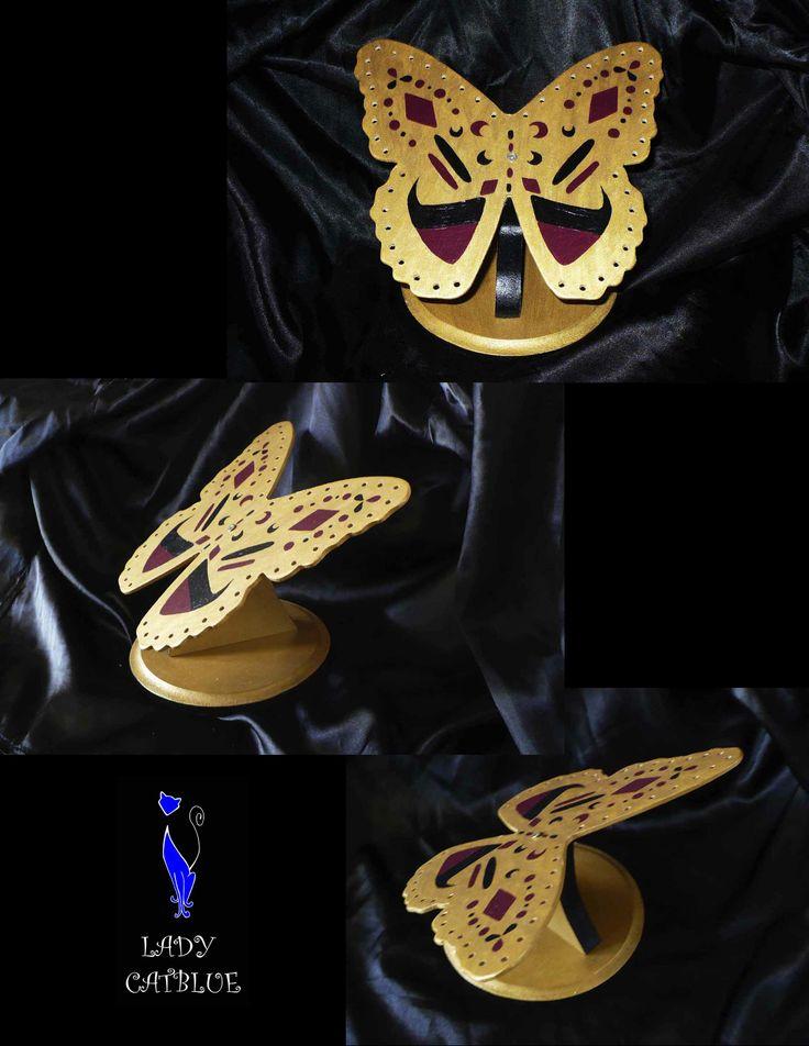 Porta aros mariposa dorada (para 48 pares de aros)