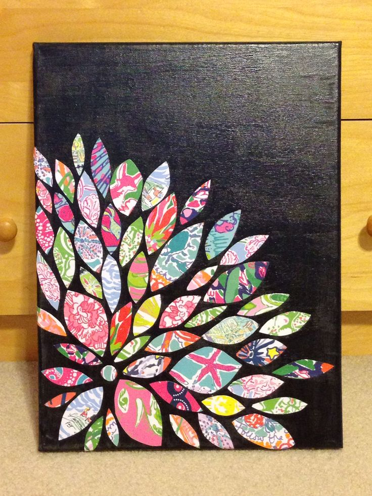 Wall art using old Lilly Pulitzer agenda pages!