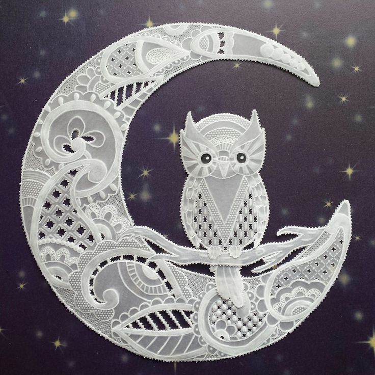 Owl Parchment Or Pergamano What A Sweet Idea For A