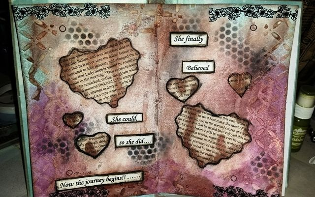 Another layout in my Art Journal ... Created by Fiona Knobben