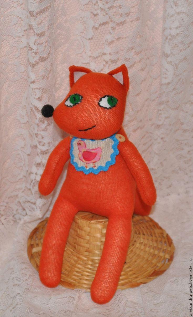 Купить Лисичка сестричка - рыжий, лиса, Лисонька, носки, носочные игрушки, носочные куклы, лисичка