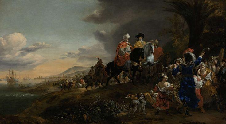 De Nederlandse ambassadeur op weg naar Isfahan, Jan Baptist Weenix, 1653 - 1659
