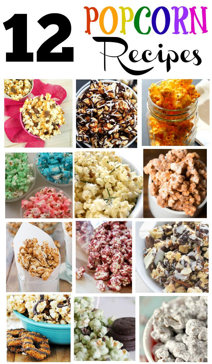 12 of the best flavored popcorn recipes I've ever found!! Easy to make and delicious!