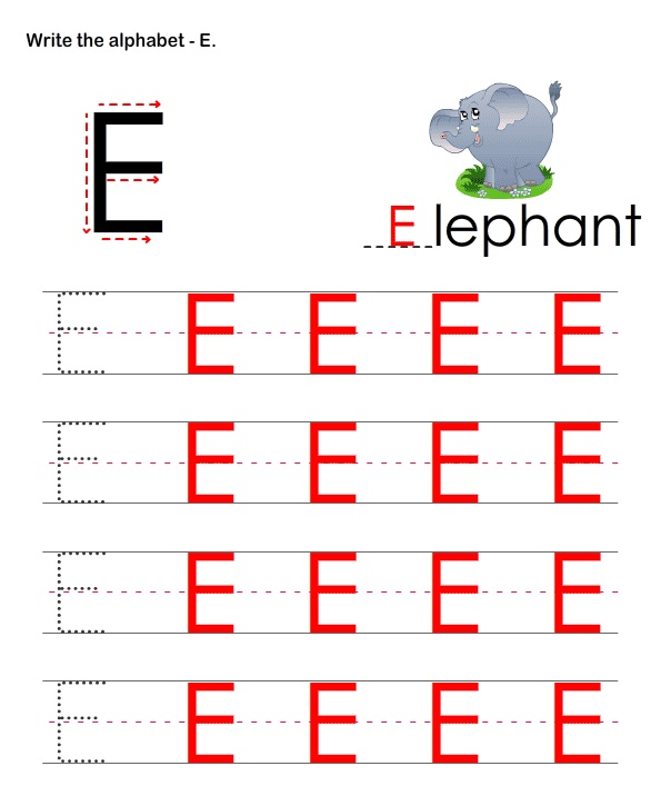 Practice Letter Writing Capital Letters E Alphabet Writing Practice Alphabet Writing Writing Practice