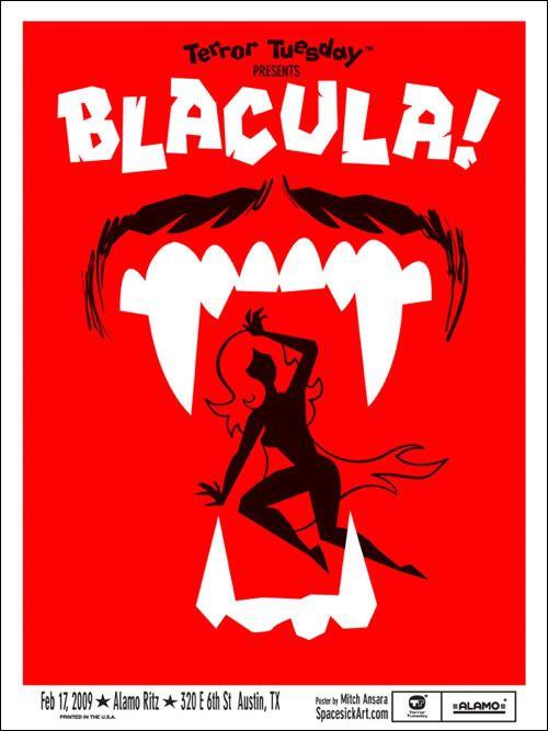 Mondo Poster: Blacula  Artist:Spacesick  Media:Screenprint  Series:Alamo Drafthouse  For more information go to: The Mondo Blog