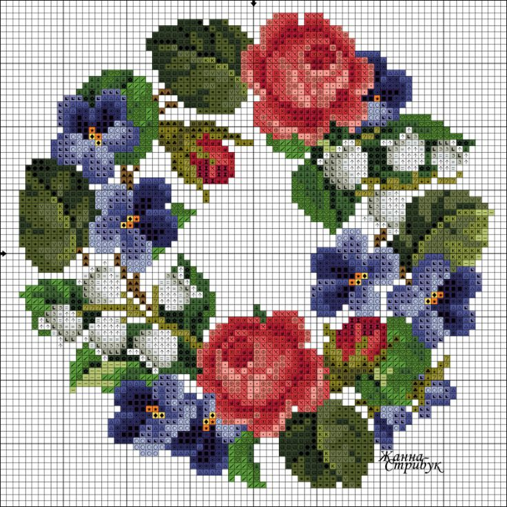 Gallery.ru / розы, фиалки и ландыши - Венки и веночки - pustelga
