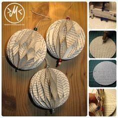 DIY Papier-Deko / DIY easy paper decoration